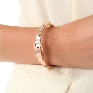 Michael Kors rose gold buckle bangle bracelet